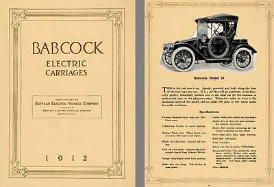 Babcock 1912 - Babcock Electric Carriages