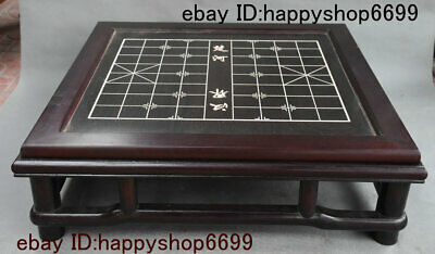 China Rosewood Wood Inlay Shell Xiangqi Gobang The Game Of Go Checkerboard Table