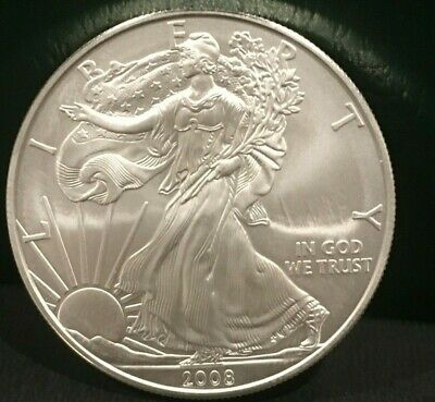 TWO (2) Silver American Eagle Coins BU 2008 W and 2009 - great for the stack