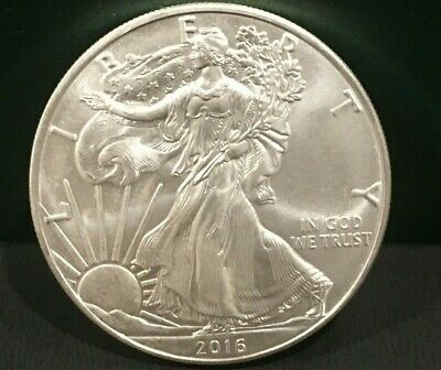 TWO (2) Silver American Eagle Coins BU 2016 and 2017 - great for the stack