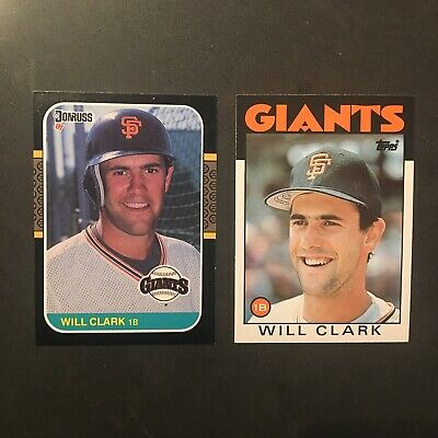 1987 Donruss #66 Will Clark Rookie 2 1986 1 Topps Traded #24t Will Clark Lot 3 Sports Mem, Cards & Fan Shop