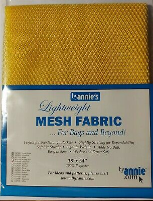 """Annie's Mesh Fabric Lightweight Black 18"""" X 54"""" Bags Pockets Totes Holders Hat"""