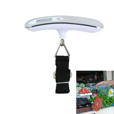 110lb/50kg Portable Travel LCD Digital Hanging Luggage Scale Electronic Weight