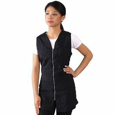 Salon Sleeveless Smock Black Slim Fit Water Repellent Color Resistant