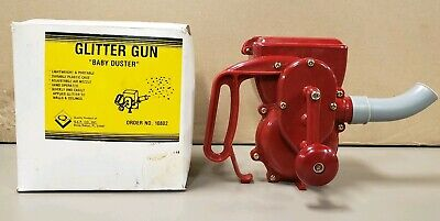 "VTG NEW NITTO ""BABY DUSTER"" HAND CRANK Glitter Gun for Ceilings and Walls JAPAN"