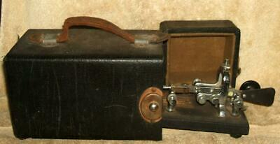 Mid 1900's Vibroplex Telegraph Key with Original Carrying Case
