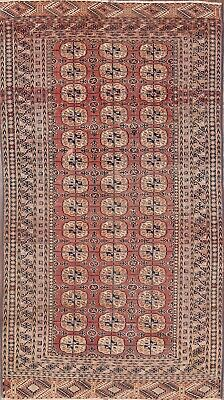 Must See! Geometric Old Antique 5x8 Wool Balouch Afghan Area Oriental Rug