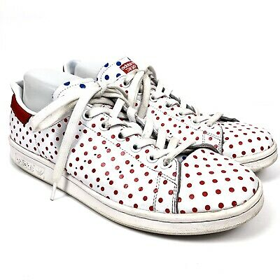 0261fafbe adidas Originals Pharrell Williams Stan Smith Shoes Red Polka Dot Men s  Size 10