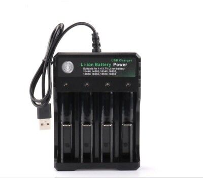 1x Pro 4 Slots Smart USB Charger For Li-Ion 18650 Rechargeable Battery Charger