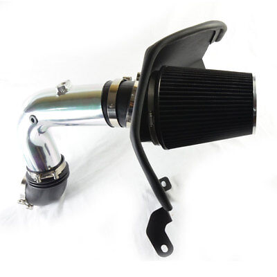 Carpartsinnovate For Dodge 03-07 Ram 2500 3500 5.9L Chrome Cold Air Intake+Heat Shield+Black Filter