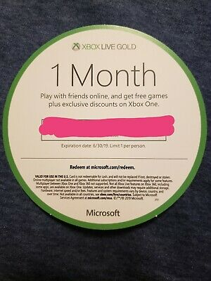 XBox Live Gold One Month (Code sent throught email)