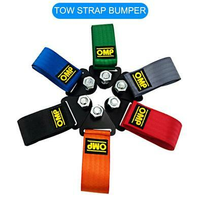 Car Van Towing Pull Rope Strap Heavy Duty Road Recovery Strap Bumper Trailer Tow