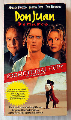 DON JUAN DEMARCO Rare Vhs Tape New Line Sealed! 1995 Date