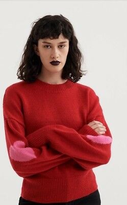 1866682fc0 Lazy Oaf Wear Your Heart On Your Sleeve Sweater Sold Out Retired