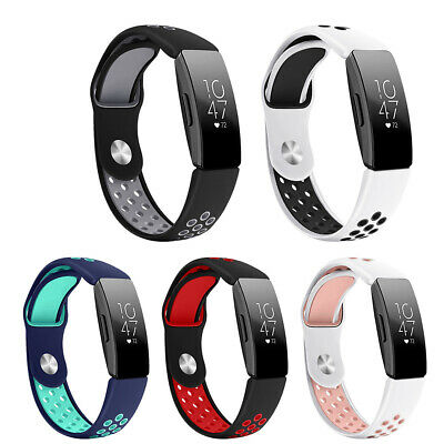 Metal Buckle Soft Silicone Watch Band Strap Replace for Fitbit Inspire HR Trendy