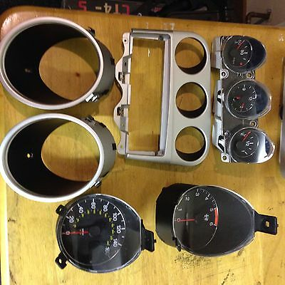 Alfa Romeo 156 Clock Set Black Complete With Silver Surrounds