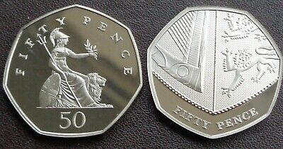 1971 -2019 Elizabeth II 50p Pence Decimal Proof Coin - Choose Your Year