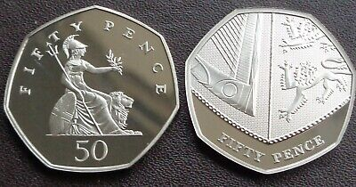 1971 -2020 Elizabeth II 50p Pence Decimal Proof Coin - Choose Your Year
