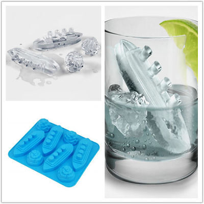 Titanic & Iceberg Silicone Ice Cube Shape Jelly Tray Maker Mould Large Shape EO
