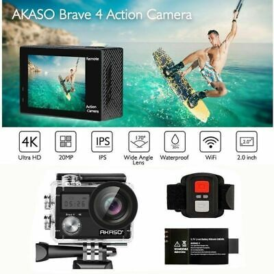 2019 New Akaso Brave 4 Native 4K Sports Action Camera Waterproof Wifi HD DV 20MP