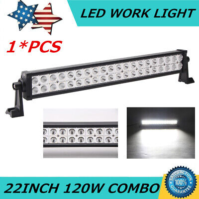 22inch 120W Philips LED Light Bar Combo Offroad Ford SUV+4inch 18W Spot Pods UTE