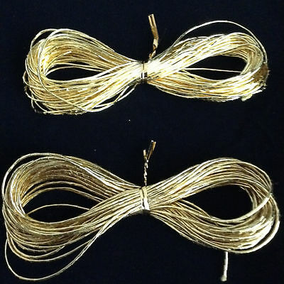 THICK GOLD THREAD 10M,1.3 mm, 2 SHADES, GOLDWORK, EMBROIDERY, BIG BOLD DESIGNS!