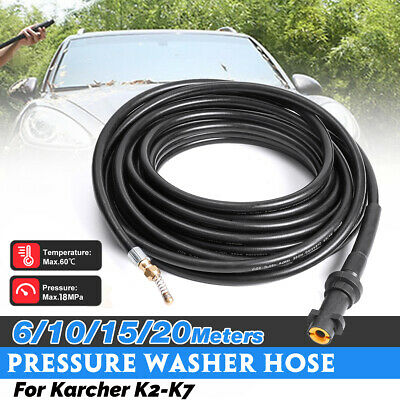 6-20M Drain Sewer Cleaning Hose Jet Nozzle For Karcher K2-K7 Pressure Washer