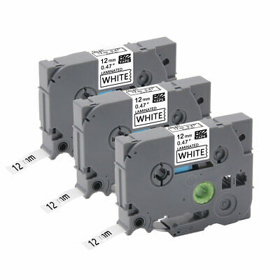 """3PK TZe231 12mm 0.47""""Label Tape Compatible for Brother P-Touch PT-1890C PT-D600"""
