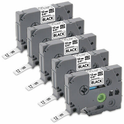 """5PK TZe231 12mm 0.47""""Label Tape Compatible for Brother P-Touch PT-1890C PT-1890C"""