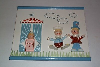 Vintage Irmi Nursery Childs Or Babys Wooden Wood Wall Plaque Picture