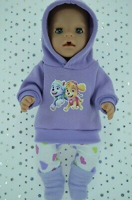 """Play n Wear Doll Clothes To Fit 17"""" Baby Born LILAC HOODIE~LEGGINGS~BOOTS"""