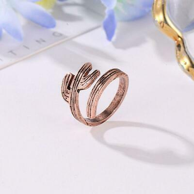 Women Cactus Tree Plants Open Ring  Adjustable Ring Finger Ring Jewelry FI