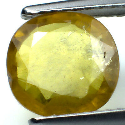 Brazil Yellow Natural Sapphire 2.31Ct Round Shape 8.8mm AAA+ Gemstone
