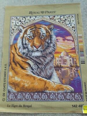 Bengal Tiger   Tapestry Canvas New Made In France 100%cotton