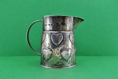 Liberty & Co Sterling Silver Cream jug 577 A Knox Heart Design Birmingham 1905