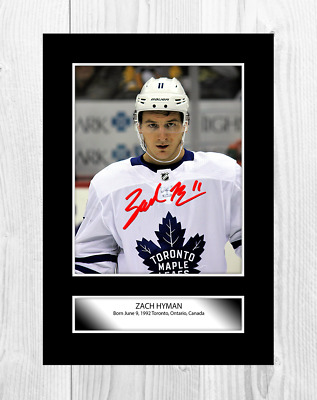 Zach Hyman (1) NHL Toronto Maple Leafs A4 signed poster. Choice of frame.