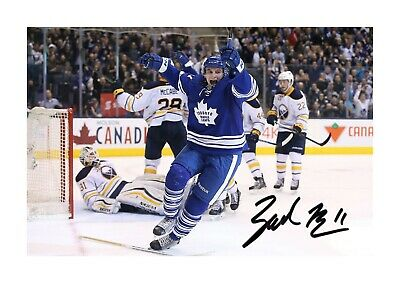 Zach Hyman (2) NHL Toronto Maple Leafs A4 signed poster. Choice of frame.