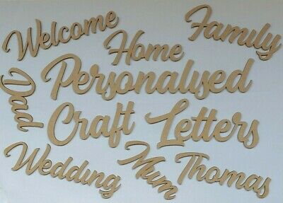 Personalised Letters Wooden MDF Words Names  Craft Wedding Home Decor