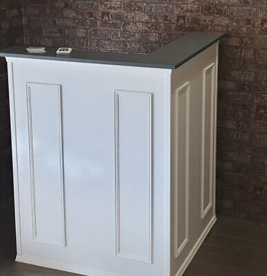 Beautiful White Reception desk perfect for hair/beauty salon