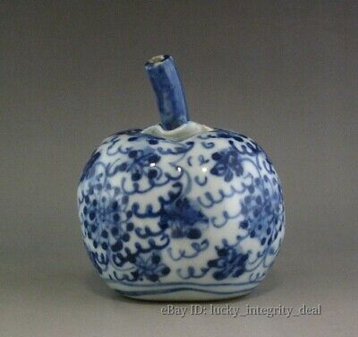Old Chinese Blue and White Porcelain persimmon Water Dropper Mark