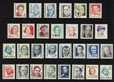 US, #2168-97 Great Americans full set 29 stamps, MNH