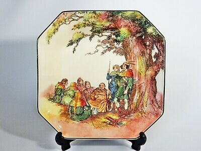 Antique Art Deco Royal Doulton Under The Greenwood Tree Square Serving Bowl Dish