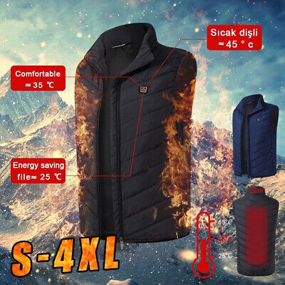 Feather Pore Sleeveless Coats Electric Heating Vest Thermal Jacket USB Charge