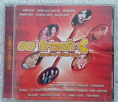 So Fresh the Hits of Autumn 2002 cd various artists compilation
