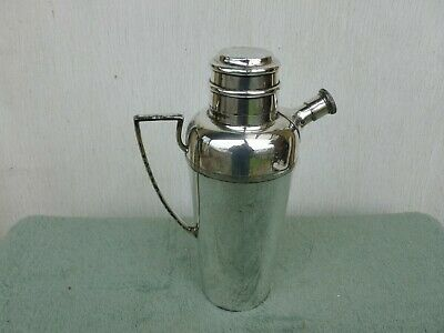 Mappin & Webb Art Deco Silver Plated Cocktail Shaker Mixer