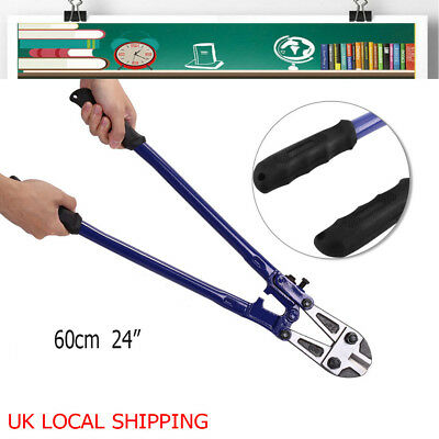 """UK 24"""" Heavy Duty Carbon Steel Bolt Cutters Wire Cable Chain Lock Cut Croppers"""