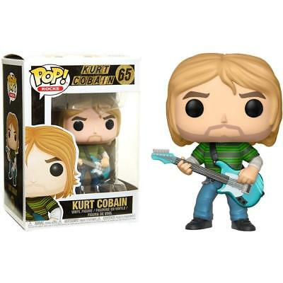 FUNKO POP! ROCKS Kurt Cobain Striped Shirt #65 NEW