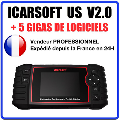 ✅ Valise Diagnostic Auto Obd2 100% Francais Icarsoft Us V2.0 - Ford + Gm + Jeep