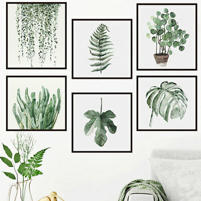 Pot Plants Framed Wall Stickers Botanical Vinyl Decals Home Decor  Art Mural DIY