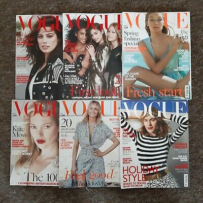 Vogue Magazine 2017 Lot Bundle